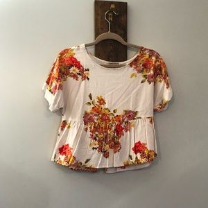 Floral crop top by Forever 21
